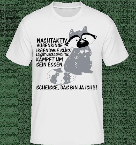 Nachtaktiver Waschbär - Shirtinator Männer T-Shirt - Weiß - Vorn