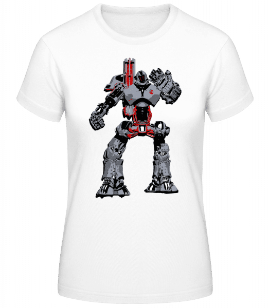 Fighting Robots - Women's Basic T-Shirt - White - Vorn
