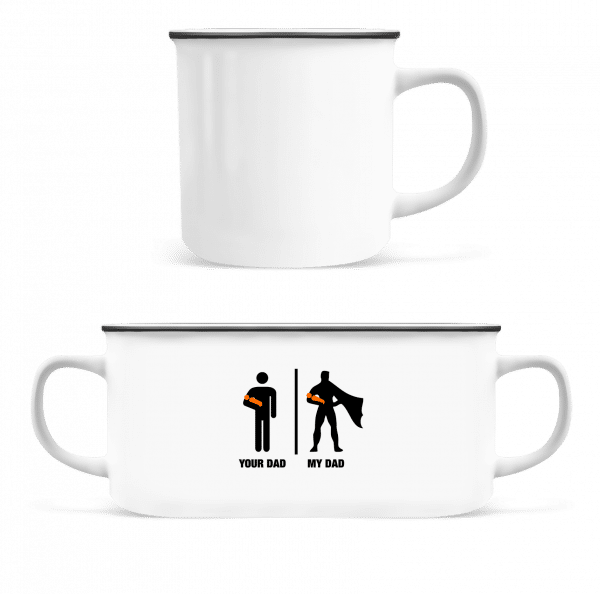 Your Dad, My Dad - Enamel-cup - White - Front