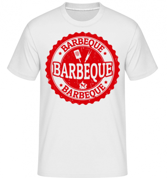 Barbeque Sign -  Shirtinator Men's T-Shirt - White - Front