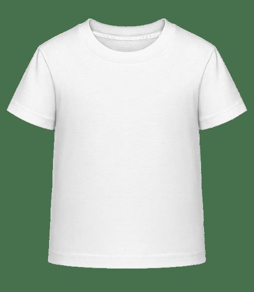 Kinder Shirtinator T-Shirt - Weiß - Vorne