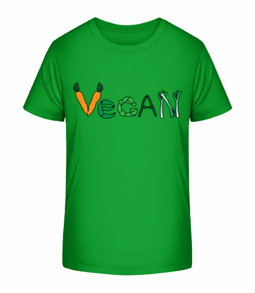 Vegan Vegetables - Kid's Premium Bio T-Shirt - Green - Vorn