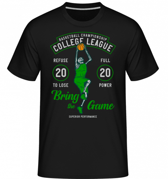 College League -  Shirtinator Men's T-Shirt - Black - Front