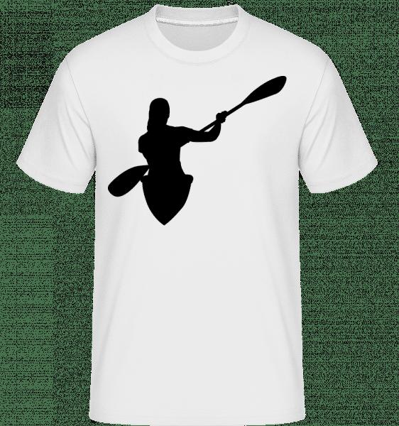 Kajak Shape Black -  Shirtinator tričko pre pánov - Biela - Predné