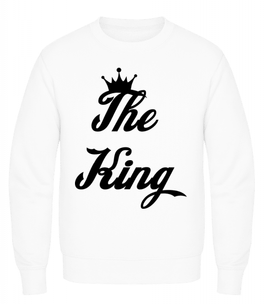 The King - Men's Sweatshirt AWDis - White - Vorn