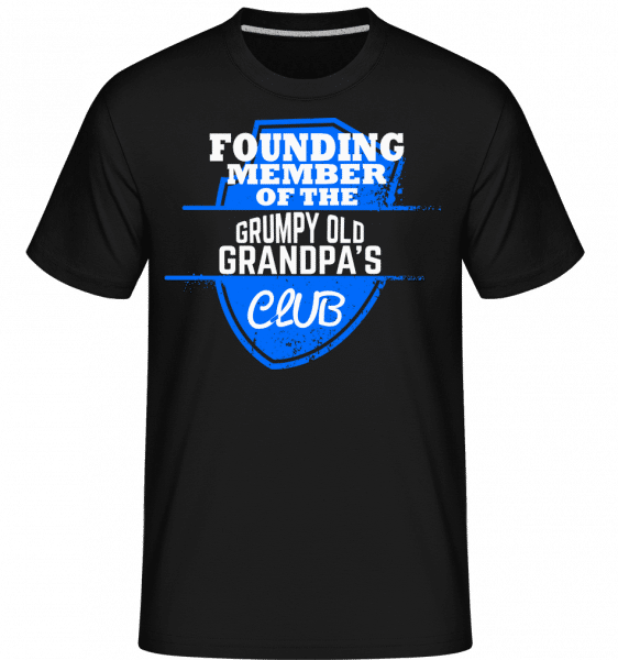 Grumpy Old Grandpas Club -  Shirtinator Men's T-Shirt - Black - Front