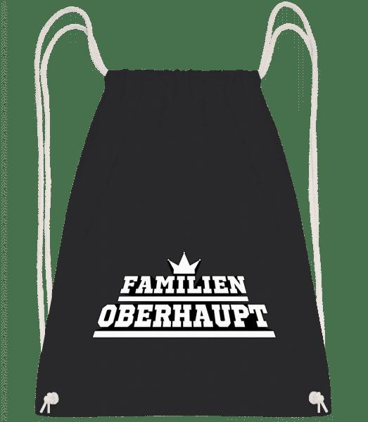 Familien Oberhaupt - Turnbeutel - Schwarz - Vorn