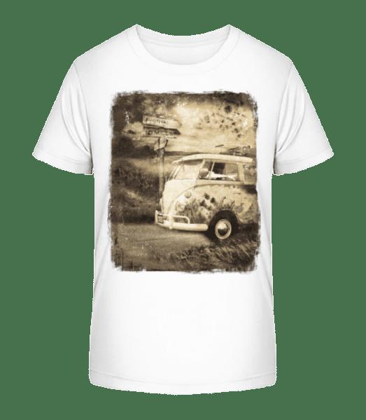 Festival Bus - Kid's Premium Bio T-Shirt - White - Front