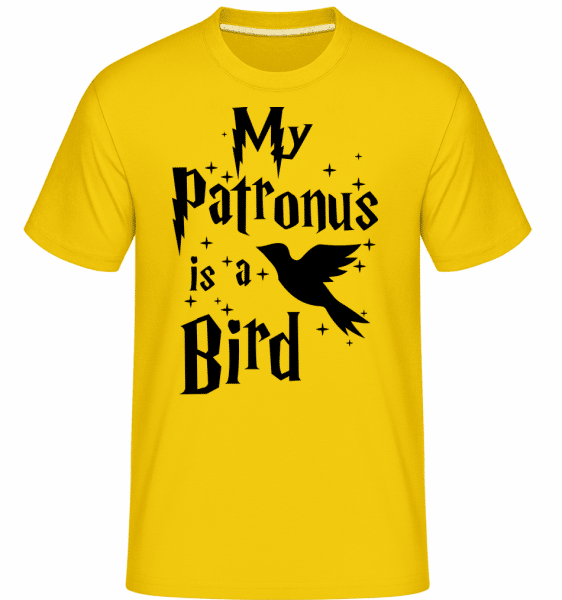 Můj patron je pták -  Shirtinator tričko pro pány - Zlatožlutá - Napřed