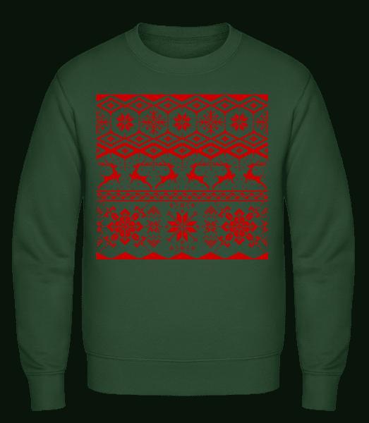 Christmas Pattern - Men's Sweatshirt - Bottle green - Vorn