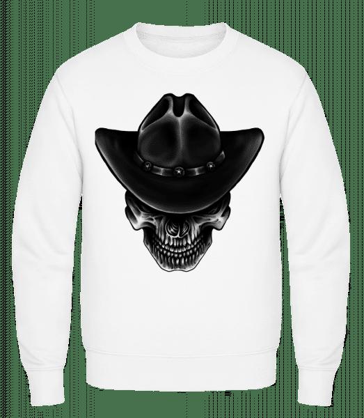 Cowboy Skull - Classic Set-In Sweatshirt - White - Vorn