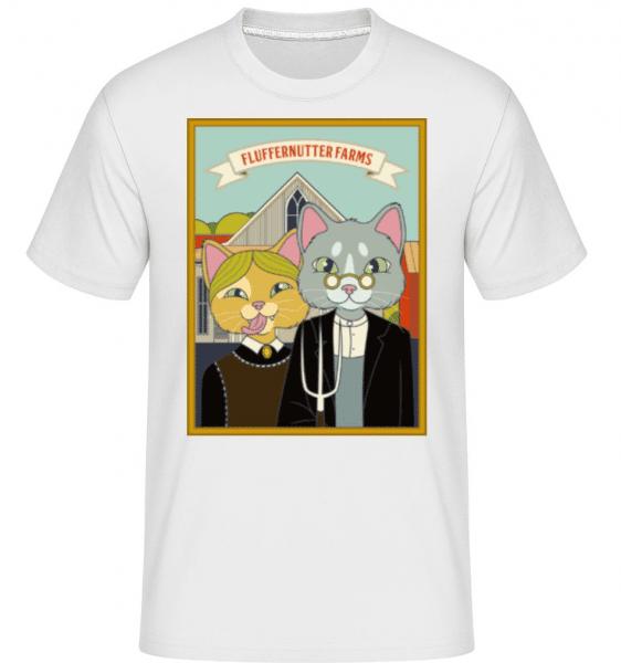 Fluffernutter Farms -  Shirtinator Men's T-Shirt - White - Front