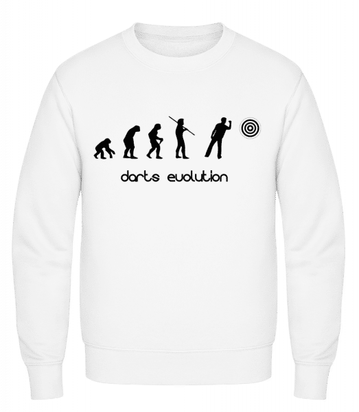 Darts Evolution - Classic Set-In Sweatshirt - White - Vorn
