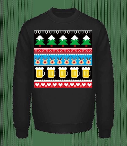 Ugly Christmas Symbols - Unisex mikina - Čierna - Predné