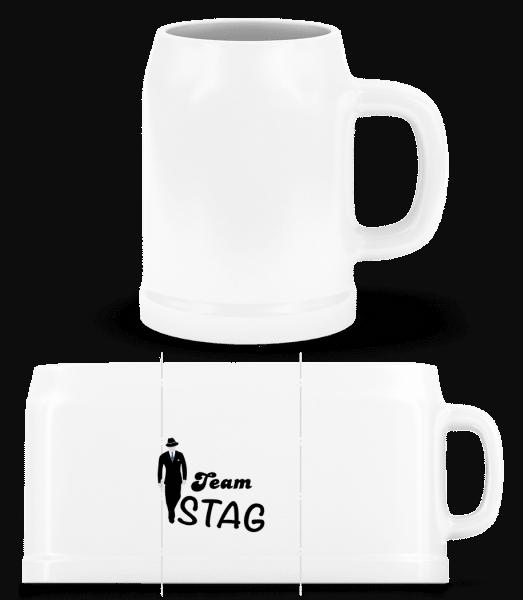 Team Stag - Beer Mug - White - Vorn