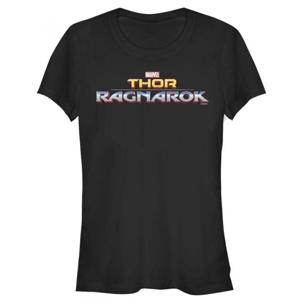 Ragnarok Logo Text - Marvel Thor Ragnarok - Women's T-Shirt - Black - Front