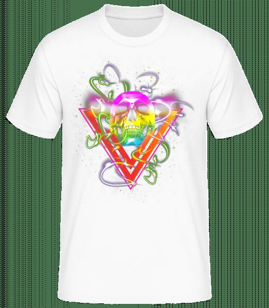 Disco Skull - Men's Basic T-Shirt - White - Vorn