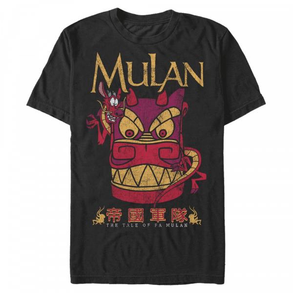 Stone Mushu - Disney Mulan - Men's T-Shirt - Black - Front