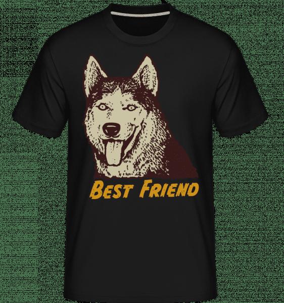 Dog Best Friend -  Shirtinator tričko pro pány - Černá - Napřed