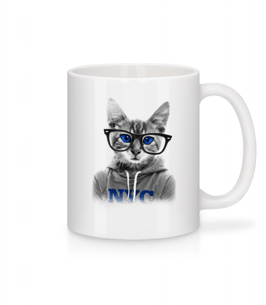 Cat NCY - Mug - White - Vorn