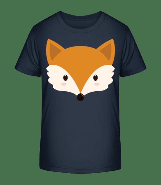 Fuchs Comic - Kinder Premium Bio T-Shirt - Marine - Vorn