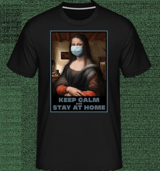 Monalisa Mask - Shirtinator Männer T-Shirt - Schwarz - Vorn