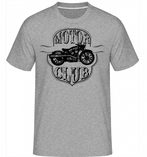Motorclub Icon - Shirtinator Männer T-Shirt - Grau meliert - Vorn