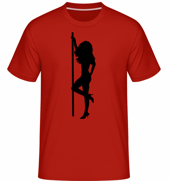 Stripper Girl Pole -  Shirtinator Men's T-Shirt - Red - Front