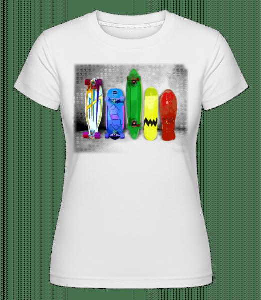 Crazy Boards -  Shirtinator Women's T-Shirt - White - Vorn