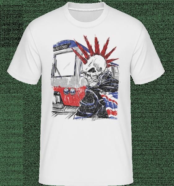 London Skull Punk -  Shirtinator Men's T-Shirt - White - Vorn