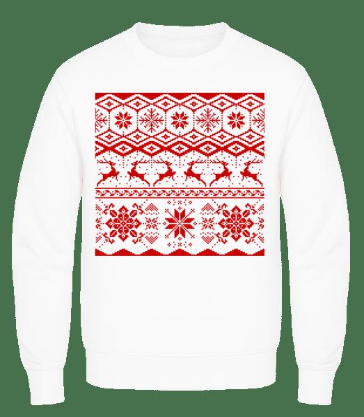 Christmas Pattern - Men's Sweatshirt AWDis - White - Vorn