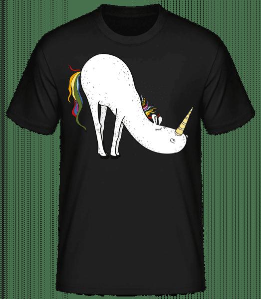 Licorne Yoga Priant - T-shirt standard homme - Noir - Vorn