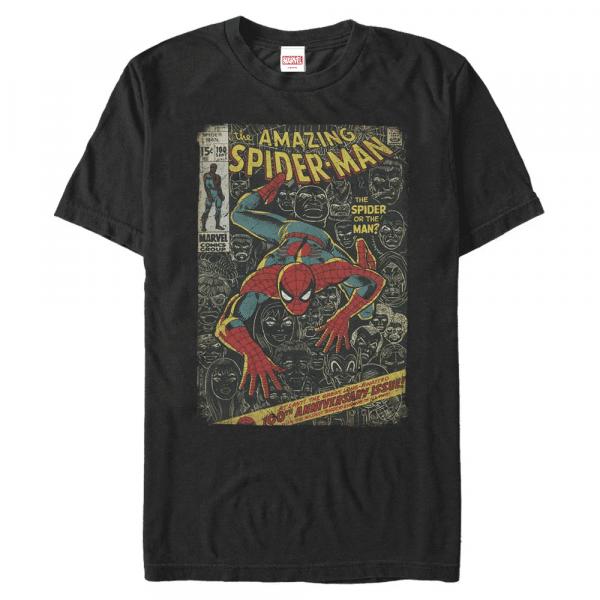 Spidey Front Cover - Marvel Spider-Man - Men's T-Shirt - Black - Front