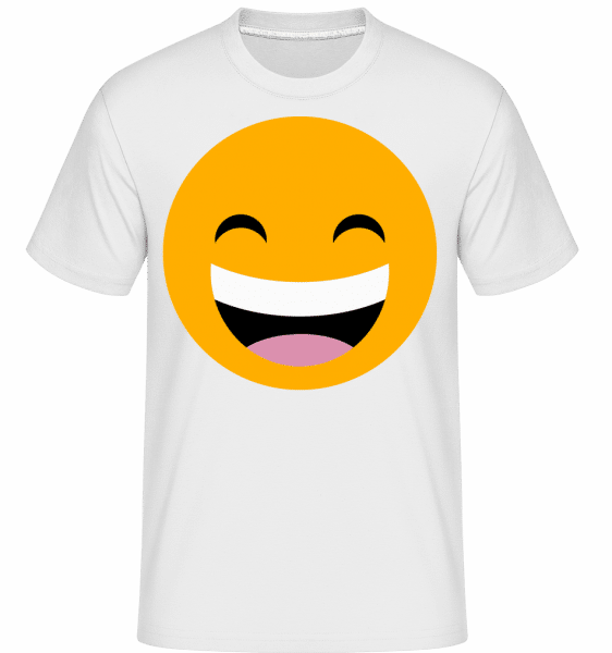 Laughing Smiley -  Shirtinator Men's T-Shirt - White - Front
