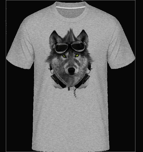 Biker Wolf -  Shirtinator Men's T-Shirt - Heather grey - Vorn