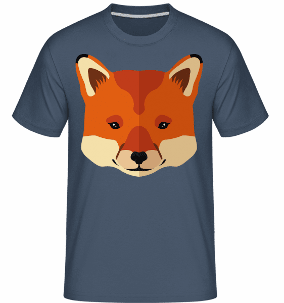 Fuchs Comic - Shirtinator Männer T-Shirt - Denim - Vorn