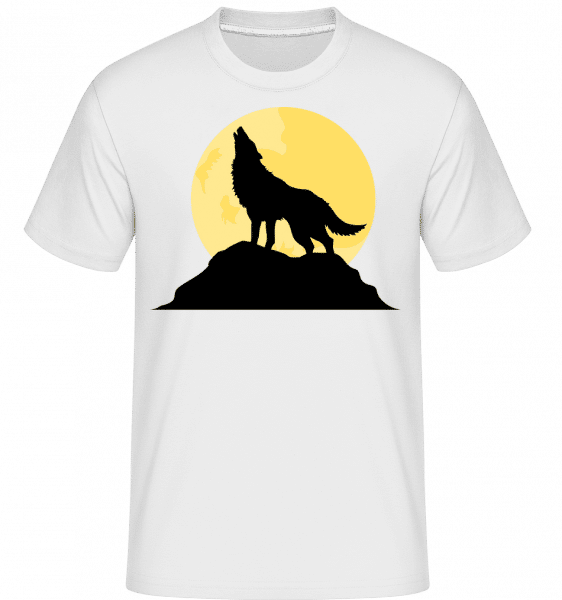 Gothic Wolf Sunset -  Shirtinator Men's T-Shirt - White - Vorn