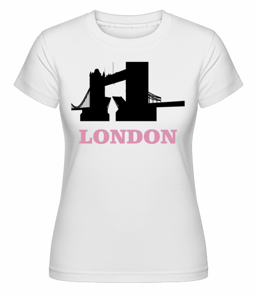 London Skyline -  Shirtinator Women's T-Shirt - White - Vorn