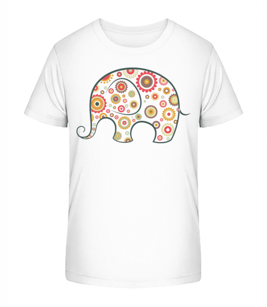 Elephant Kids Comic - Kid's Premium Bio T-Shirt - White - Vorn
