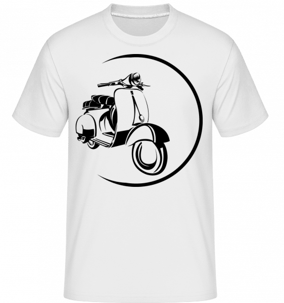 Scooter Icon -  T-Shirt Shirtinator homme - Blanc - Devant