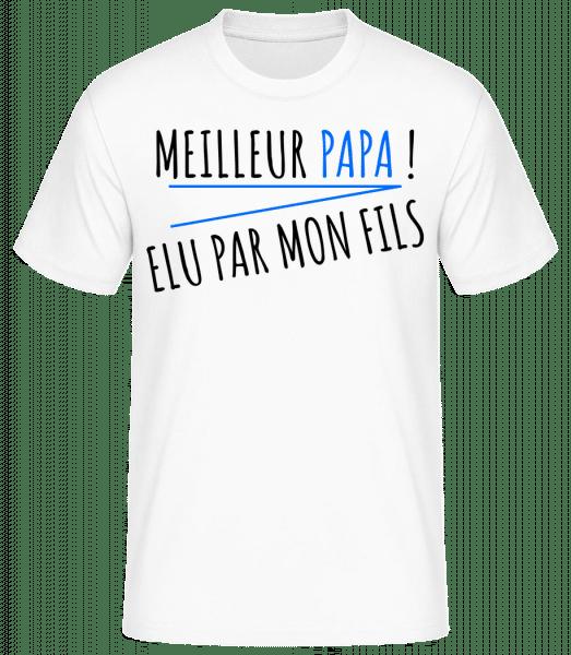 Meilleur Papa - T-shirt standard Homme - Blanc - Vorn