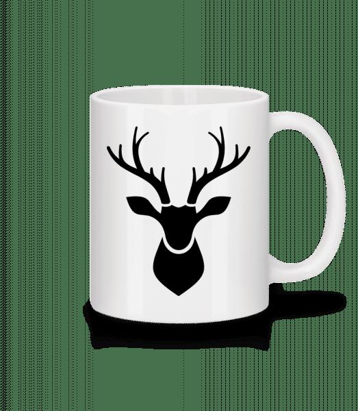 Deer Shadow - Keramický hrnček - Biela - Predné