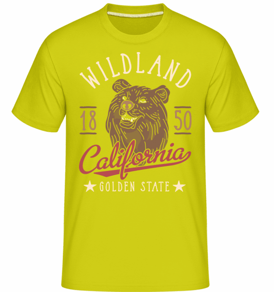 Wildland California -  Shirtinator Men's T-Shirt - Lime - Vorn