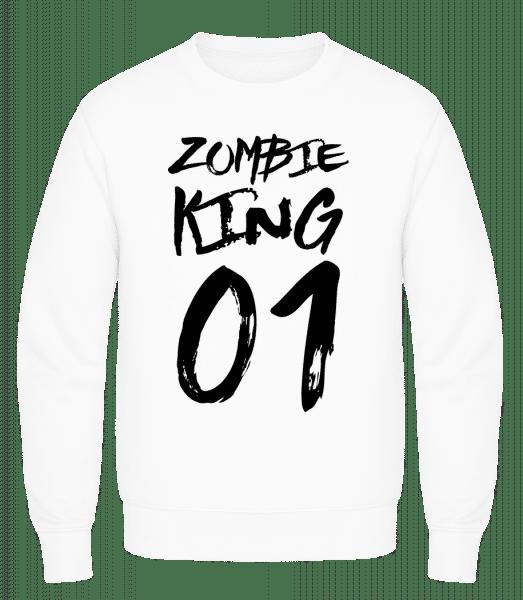 Zombie King - Men's Sweatshirt AWDis - White - Vorn