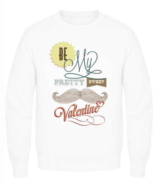 Be My Valentine - Men's Sweatshirt AWDis - White - Front