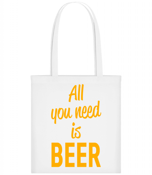 All You Need Is Beer - Carrier Bag - White - Vorn