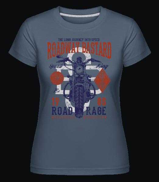 Roadway Bastard -  Shirtinator Women's T-Shirt - Denim - Front