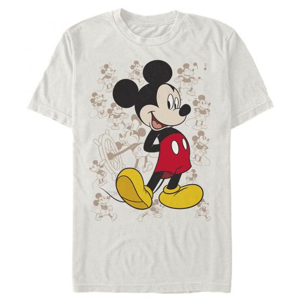 Many Mickeys Mickey Mouse - Disney - Men's T-Shirt - Cream - Front