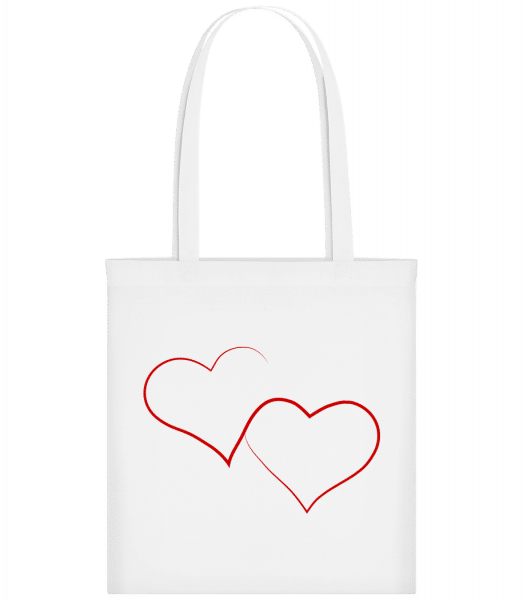 Two Hearts - Carrier Bag - White - Vorn