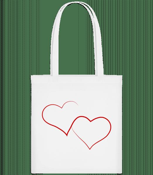 Two Hearts - Taška Carrier - Bílá - Napřed
